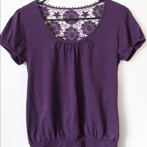 Dark purple with lace in back top (juniors)